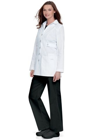 Landau 3012 Button Front Trench Style Lab Coat