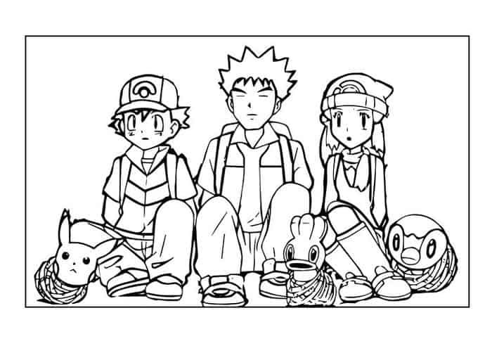 Pokemon Ash Coloring Pages Pikachu Coloring Page Pokemon Coloring Pokemon Coloring Pages