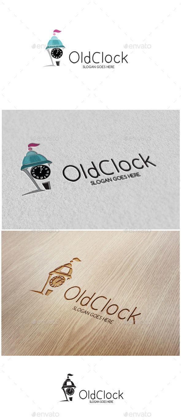 Old Clock Logo AD Clock, Sponsored, Logo