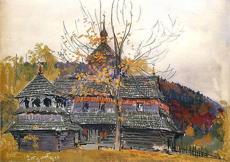 Leon Wyczółkowski. Cerkiew w Jamnie.   1910