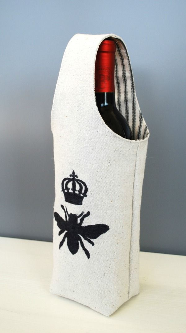 Handmade Wine Tote – Reader Feature | The Graphics Fairy | Bloglovin'
