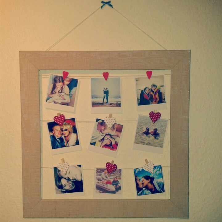 Lovely picture frame gift ideas for boyfriend selection photo and picture frame gift ideas for boyfriend empty frame with hanging diy polaroid pictures i already negle Choice Image
