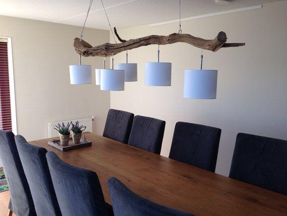 Lámpara de techo con seis luces fabrica de tronco por GBHnatureart, €955.00