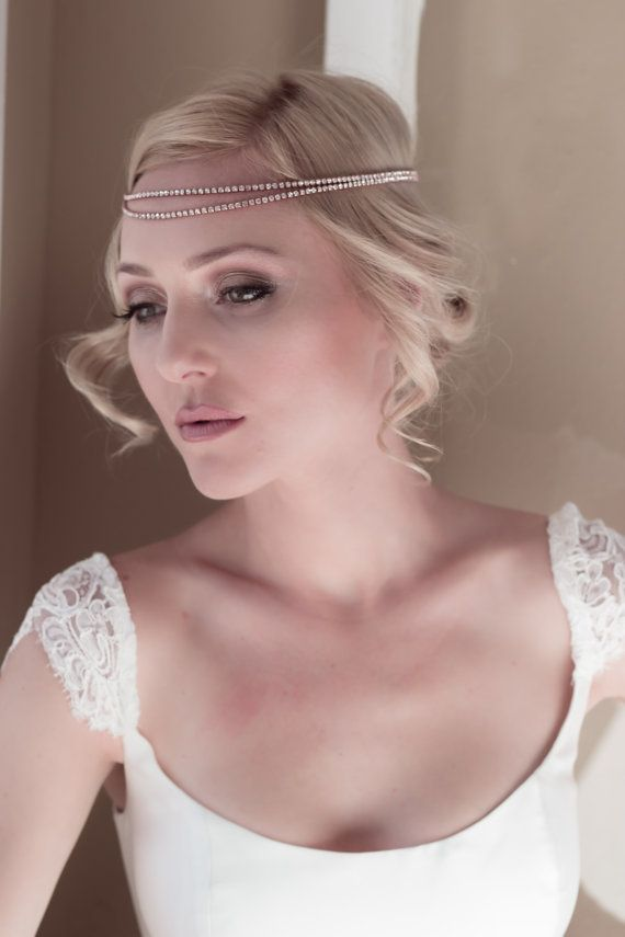 Boho Bridal Headband Bridal Hairband Bohemian by VeiledBeauty