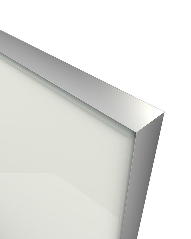 Glass Door Z-18,aluminum frame C-0, glass color Ral 9010 The Z-18 design belongs to the group of new models of glass doors. Made from an anodized aluminum frame where a colored glass is welded externally and is elegantly sharpened. Designed in parallel with the Z-21 model creating an innovative, entirely minimalistic combination. Its look , gives the compositions used, the image of an entirely glass made construction without any optical influence by other materials.