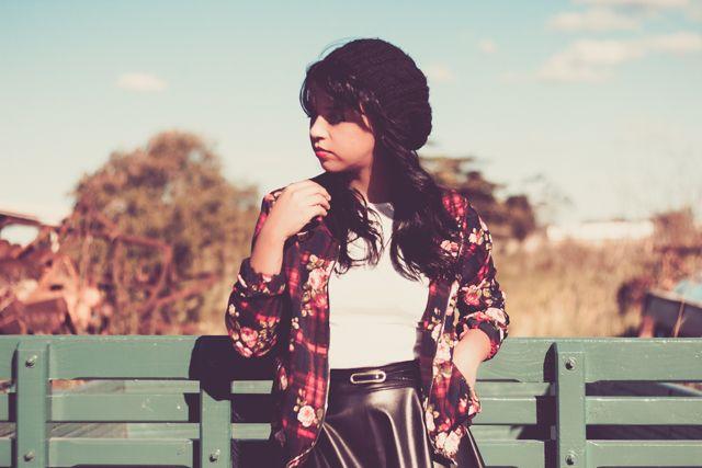 Bomber jacket dark floral - Look do dia - Blog da Maanuh