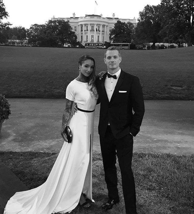 ❤️ Joel Kinnaman & his wife at DC Whitehouse 2016