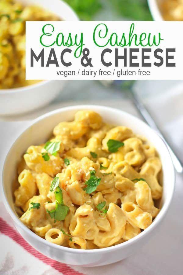 Cashew Vegan Mac And Cheese Recipe Vegan Mac And Cheese Vegan Dinner Recipes Dairy Free Mac And Cheese