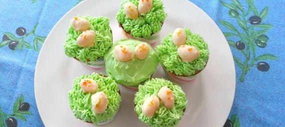 Easter cupcakes with lemon, marzipan and white chocolate | Påskecupcakes med citron, marcipan og hvid chokolade