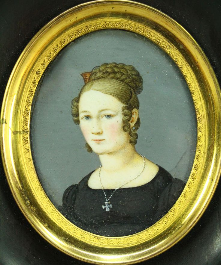 !Antique Ea.1800s FINE Hand Painted Miniature Portrait of a Beautiful Young Lady | Art, Paintings | eBay!
