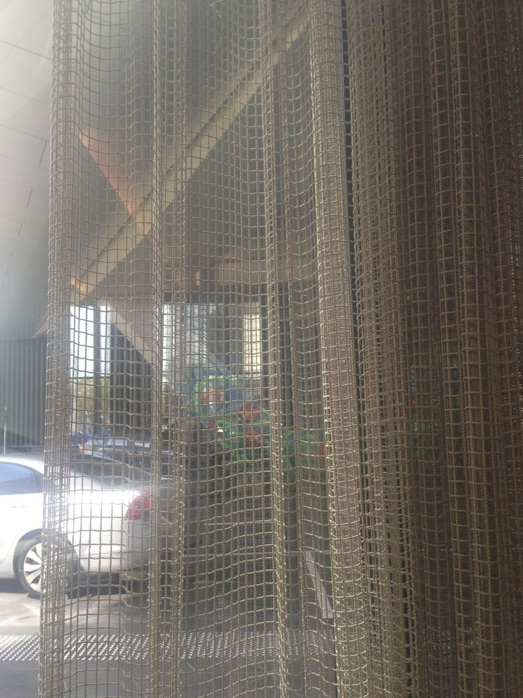 What looks like fishnet curtains at the Crown Metropol.