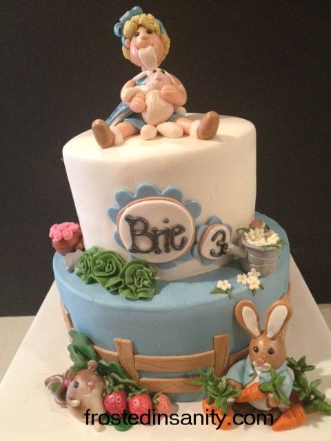 28 best images about Peter Rabbit Cakes on Pinterest