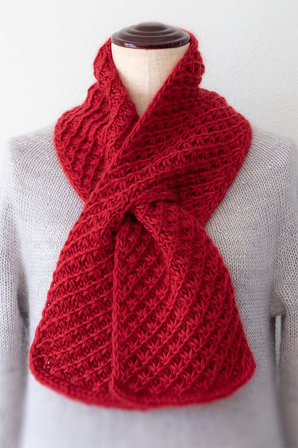Free Knitting Pattern for Cherry Pie Scarf - Scarf knit ...