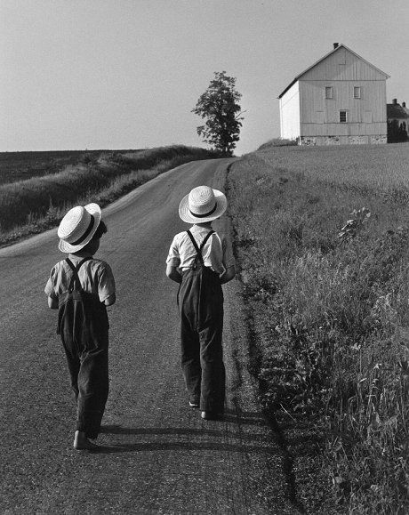 George TICE :: Two Amish Boys, Lancaster, Pennsylvania, 1961