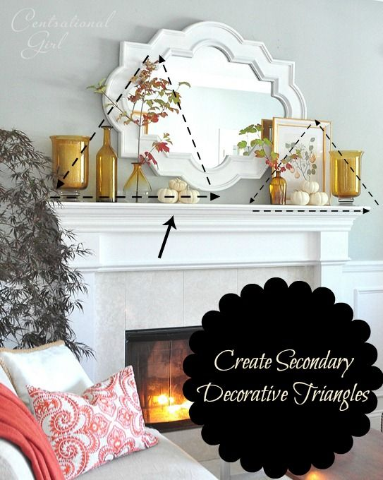 ideas on how to decorate and accessorize a mantel using a mirror on a white mantel with gold accents