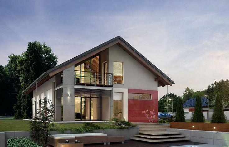 Onyx to projekt przeznaczony dla ludzi lubiących dużą przestrzeń w domu w połączeniu z bardzo nowoczesną architekturą. Interesującym rozwiązaniem jest duża antresola z której mamy widok na bardzo przeszklony i jasny salon. Ciekawe rozwiązanie elewacji zewnętrznej sprawia że Onyks wyróżnia się wśród wielu nowoczesnych projektów.