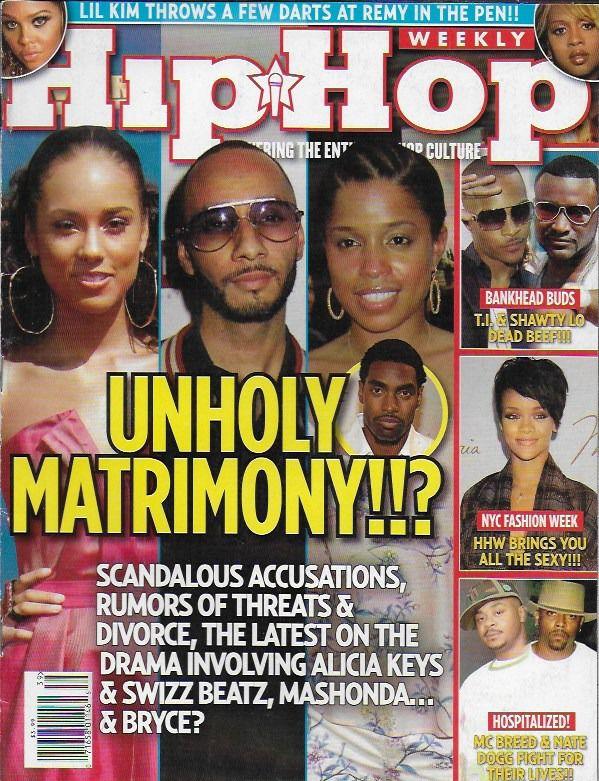 Hip Hop Weekly magazine Alicia Keys Swizz Beatz T.I. Shawty Lo NYC fashion week