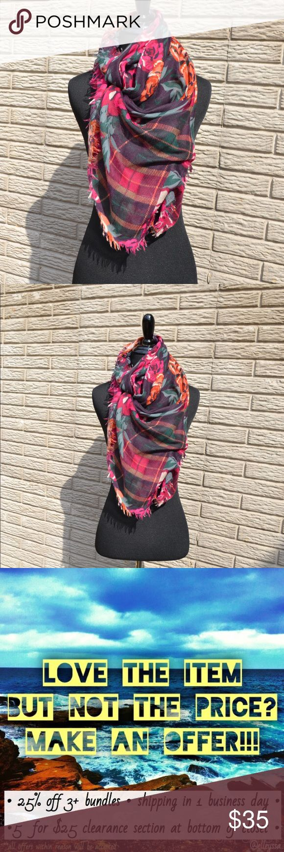 ••beautiful square fw sample scarf•• Beautiful fall colors • square scarf • worn once as a sample at Berlin fashion week in 2011  I have a few items in my closet, which are unbranded or marked as from Berlin, Germany. I lived there for two years and worked with Berlin fashion week, so I have sample pieces up for sale 💕 everything is high quality and locally designed/made. They look to sell to high end designers and department stores, such as Theory, Helmut Lang, and Nordstrom  Open to…