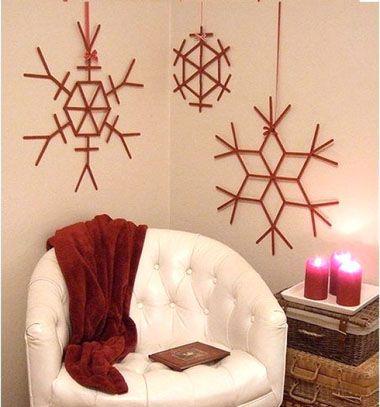 Popsicle stick snowflakes // Hópelyhek jégkrém pálcikákból // Mindy - craft & DIY tutorial collection