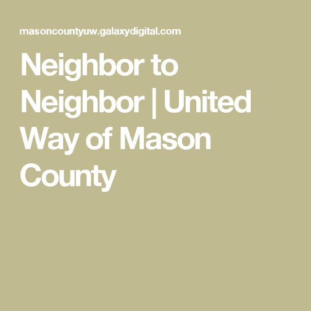 Neighbor to Neighbor | United Way of Mason County
