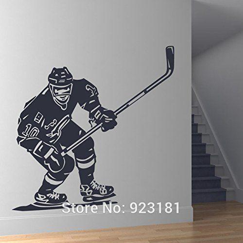 Joueur de hockey avant chaud Sports Wall Art sticker autocollant bricolage maison décoration murale Décoration Chambre amovible…