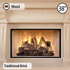 This is the fireplace we will use in the Parlour, also from Lennox, a  wood-burning, bricked firebox. The two other main level fireplaces will be  masonry ...