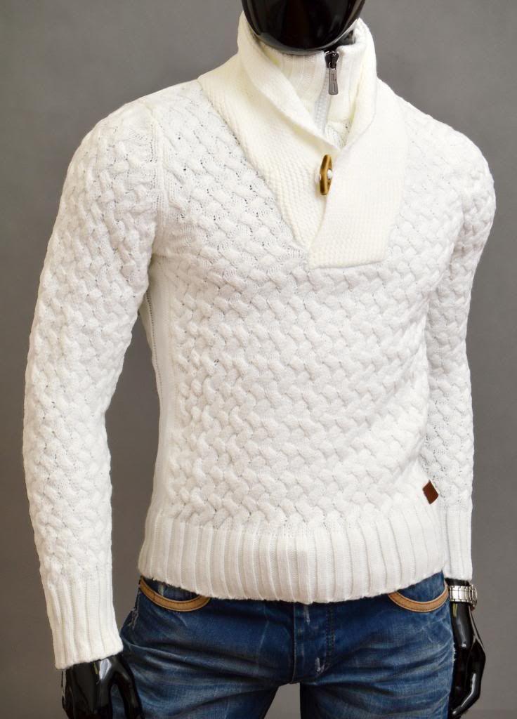 -sweter męski ze stójką                          -bardzo ciepły i gruby -najwyższa jakość wykonania                         -materiał 70% wełna, 30% akry                             -na tej aukcji kupujesz kolor ECRU