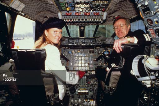 march 11, 1987--The Duchess of York, after becoming the first woman Royal to gain a private pilot's licence last month, went on the flight deck of a Concorde supersonic jet during her visit to Heathrow Airport as a guest of British Airways