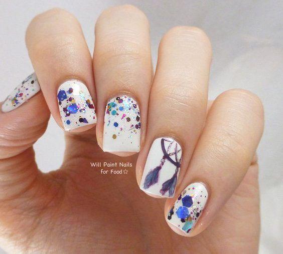 30 Ideas de uñas decoradas para esta temporada | Decoración de Uñas - Manicura y Nail Art - Part 3
