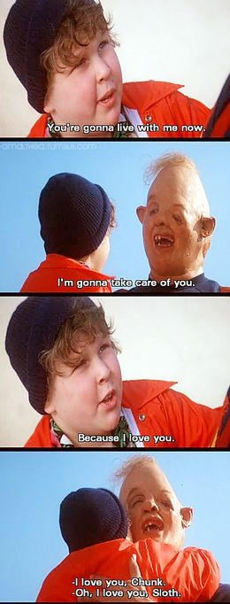 Goonies the best movie of all time! I used to cry during this part when I was a kid.