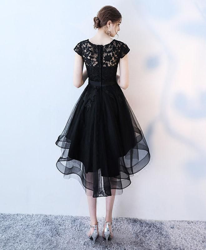 Black lace prom dress, homecoming dress, short dress for prom 2018