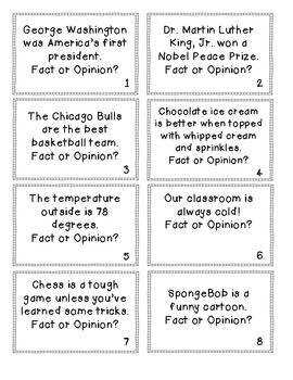 ... Facts And Opinions, Opinion Cards, Fact Opinion Activities, Fact And