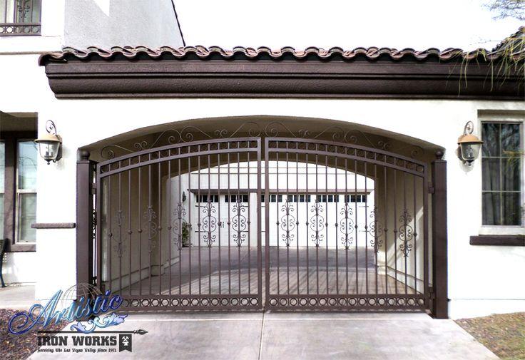 Custom wrought iron driveway gates