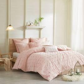 Urban Habitat Brooklyn Full/Queen Cotton Jacquard Comforter Set in Pink - Olliix UH10-0205