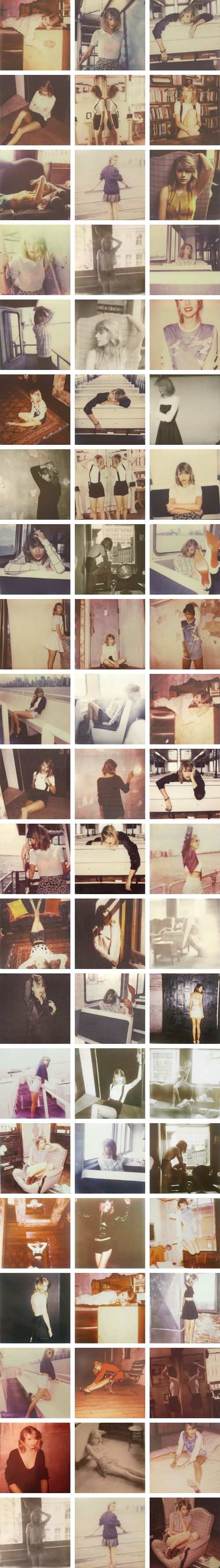 All the poloraids of Taylor swift! i really so wish i had them all!