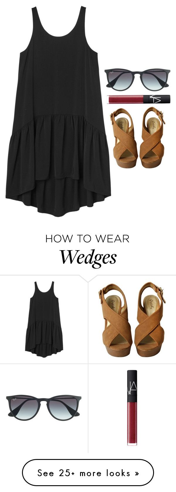 """""""what are you being for Halloween??"""" by helenhudson1 on Polyvore featuring Monki, NARS Cosmetics and Ray-Ban"""