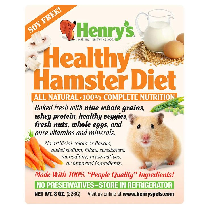 Henrys healthy hamster diet all natural 8 oz have a
