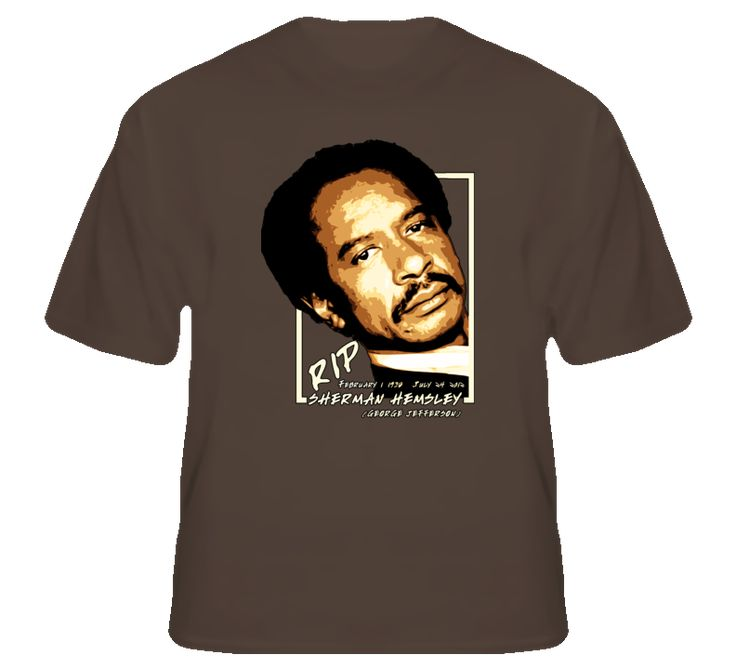 You will be sure to enjoy this Sherman Hemsley George Jefferson RIP tv legend actor t shirt which is available on a Dark Chocolate 100% Cotton Tee. The Sherman Hemsley George Jefferson RIP tv legend actor t shirt is available in youth, kids and adult sizes which you can select from the shirt size drop down below. T-Shirt is shipped out via USPS first class mail with tracking number.
