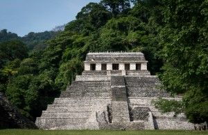 Temple from the Maya ruins at Palenque.