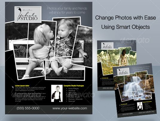 Photography Business Flyer & Ad Template Design |Photography Business Flyer Ideas