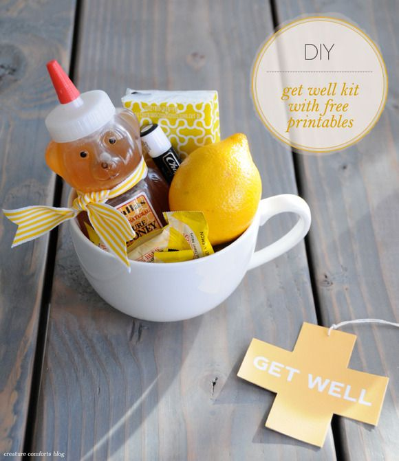 {Get Well Kit} sweet DIY to gift a sick friend. :)