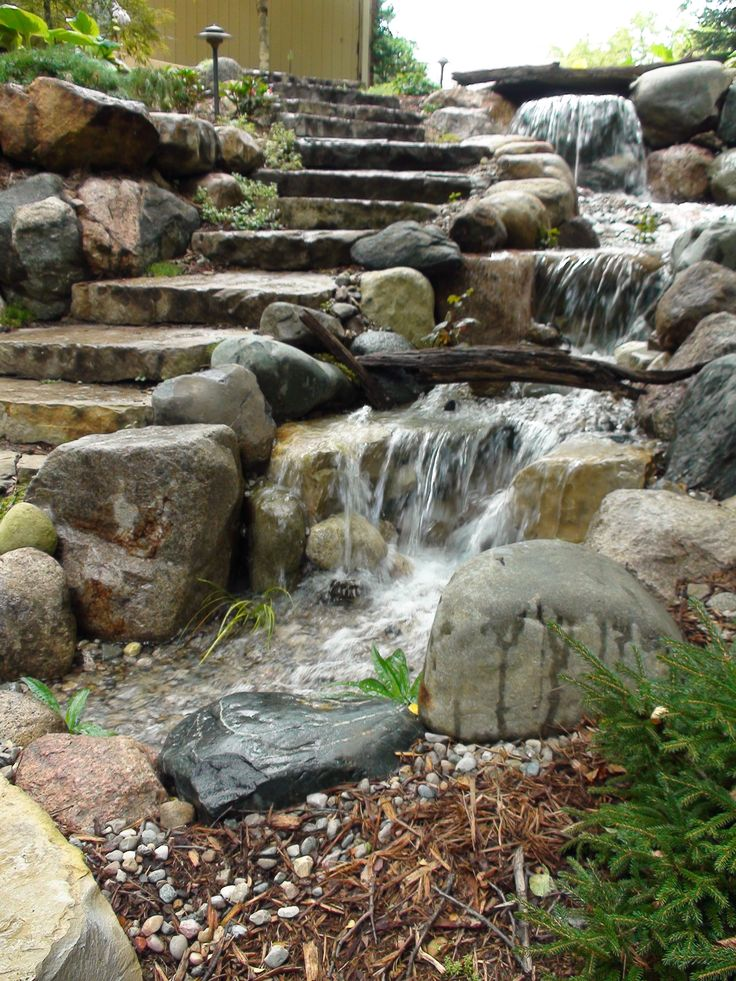 Best 25 pond waterfall ideas on pinterest diy waterfall for Garden pond water features