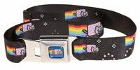 Wish | Nyan Cat Seatbelt Belt-Holds Pants Up (Size: One Size, Color: Black)
