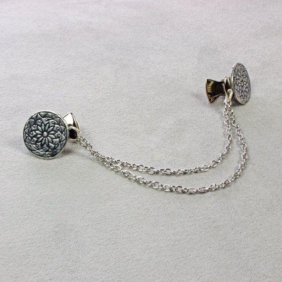 Silver Sweater Clip  Sweater Clip  Silver Chain by kimsbling