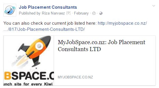 You can also check our current job listed here: http://myjobspace.co.nz/…/817/Job-Placement-Consultants-LTD/