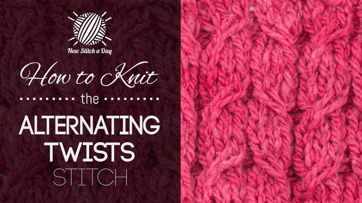 How to Crochet the Alternating Twists Stitch