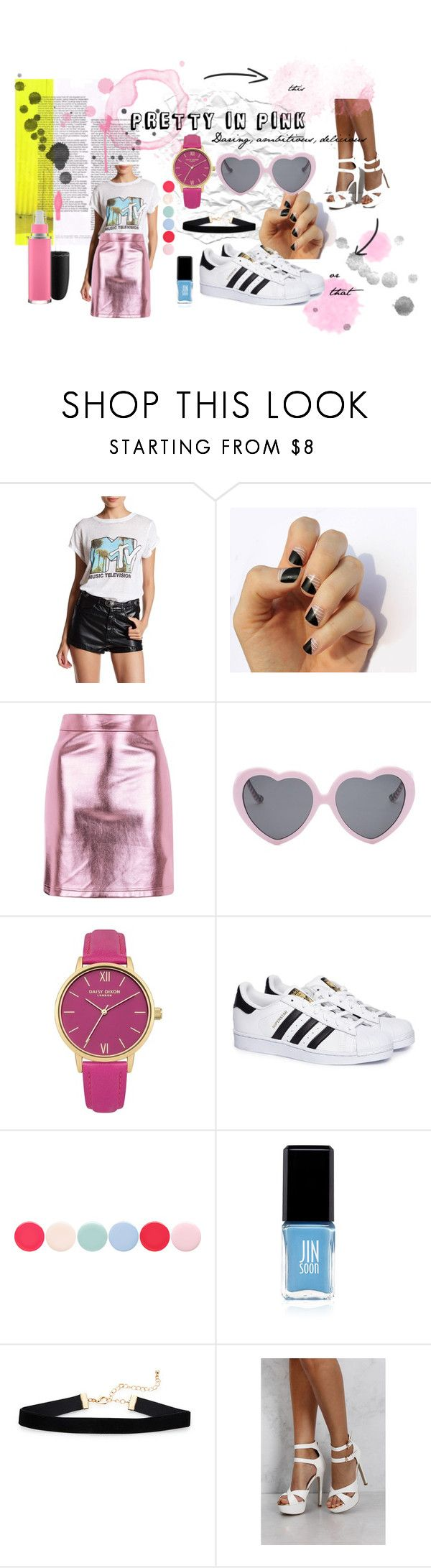 """""""Pretty in pink"""" by akay150 on Polyvore featuring Recycled Karma, SoGloss, Topshop, Vans, adidas, Nails Inc., Jin Soon and Rare London"""