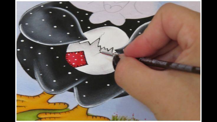 PINTANDO GALINHA - PARTE 2 - Fabric Painting