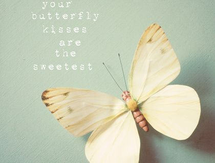 your butterfly kisses are the sweetest - 8x8 Whimsical Photograph