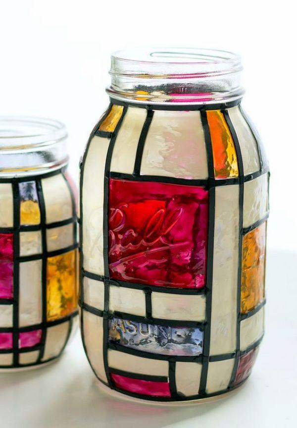 40 Exceptional Designs For Glass Painting Mason Jar Art Crafts With Glass Jars Mason Jar Crafts Diy